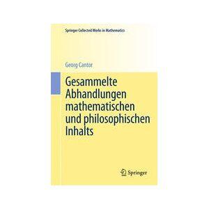 Springer Shop Gesammelte Abhandlungen mathematischen und philosophischen Inhalts
