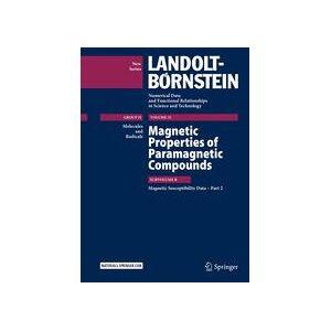 Springer Shop Magnetic Properties of Paramagnetic Compounds