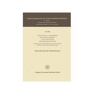 Springer Shop Untersuchung bei der Feinbearbeitung