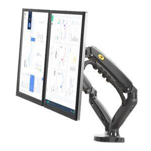 "universal NB F160 Gas Spring Desktop 17""-27"" Dual Monitor Holder Full Motion Dual Arm Monitor Support Monitor Mount Bracket"
