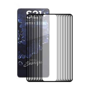 Hat Prince 10Pcs/Set HAT PRINCE Full Covering Screen Film 0.2mm 9H 2.5D Full Glue Protector [Ultra-thin Unlock Version] for Samsung Galaxy S21 Plus