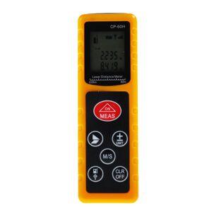 universal CP-60H 60M Handheld Digital Laser Distance Meter Mini Diastimeter for Construction Industries - Yellow