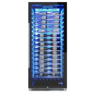 """Vinotemp EL300COMM 30"""" Private Reserve Series with 188 Bottle Capacity  41-64 Degree F  Security Lock  Label Forward Racking  BioBlu Backlit  Casters  in"""