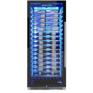 """Vinotemp EL300COMML 30"""" Private Reserve Series with 188 Bottle Capacity  41-64 Degree F  Security Lock  Label Forward Racking  BioBlu Backlit  Casters  in"""
