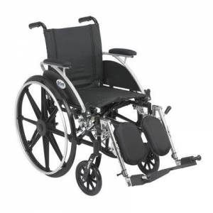 Drive Medical l414dda-elr Viper Wheelchair With Flip Back Removable Arms  Desk Arms  Elevating Leg Rests  14