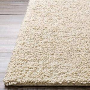 Surya Aros Collection AROS2-8RD Round 8' Area Rug  Hand Woven with Wool Material in Cream