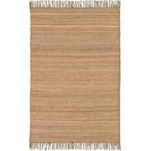 """Surya Jute JUTE NATURAL 4' x 5'9"""" Rectangle Cottage Rug in"""