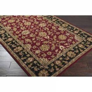Surya CRN6013-58 Hand-Tufted  100% Wool  Plush Pile Rug Made in India  In