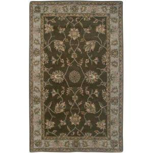 Rizzy Home VOLVO114500120508 Volare VO1145-5' x 8' Hand-Tufted 100% Wool Rug in Brown  Rectangle