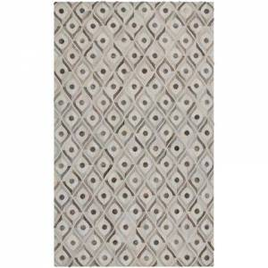 Surya Appalachian Collection APP1003-58 Rectangle 5' x 8' Area Rug  Hand Crafted with Hair On Hide Material in Grey and Neutral