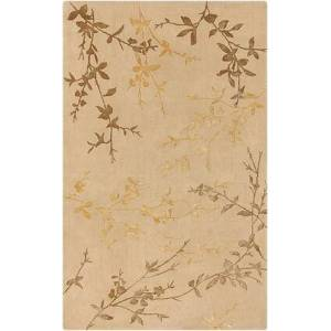 Surya Tamira TAM-1004 5' x 8' Rectangle Modern Rugs in Camel  Mustard