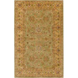 Surya Crowne CRN-6001 5' x 8' Rectangle Traditional Rug in Camel  Khaki  Ivory  Dark
