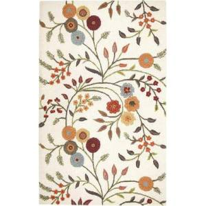 Rizzy Home DIMDI146600930508 Dimensions DI1466-5' x 8' Hand-Tufted New Zealand Wool Blend Rug in White  Rectangle