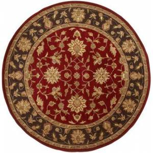 Surya Crowne CRN-6013 8' Round Traditional Rug in