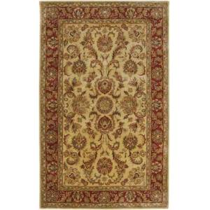 "Surya A111-3353 3'3"" x 5'3"" Rectangular Ancient Treasures Ink Handmade Area Rug Made with 100% Semi-Worsted New Zealand Wool and Made in"