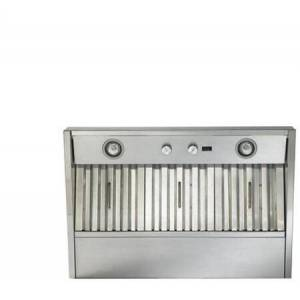 """Best CP34I369SB 36"""" Built-In Custom Liner Insert With 8"""" Round Duct Connector  290 CFM Blower  Two-Setting Cooktop Lighting  And Dishwasher Safe Stainless"""