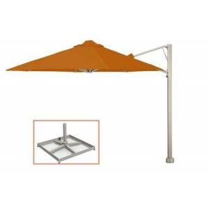 """Shadowspec SU7 Series KITP7SQ25PBORN (A) Rotating 8'2""""/2.5m Square Cantilever Umbrella with Portable Base Fixing in Bitter"""
