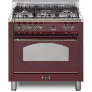 """Lofra RBBS36M0-G500 Dolcevita 36"""" Dual Fuel Freestanding Range with Traditional Baking  Dehydration  Defrosting  True European Convection  Rapid Cooking"""