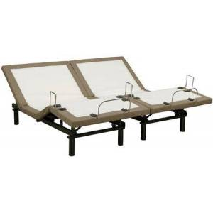 South Bay M2000 Collection BN2AB-TLX2 King Size Split Adjustable Base with 3 Pre-Programmed Positions  Wireless Remote Control  Massage Function  Undercarriage