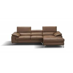 J and M Furniture 17906122-RHFC A973B Italian Leather Mini Sectional Right Facing Chaise in
