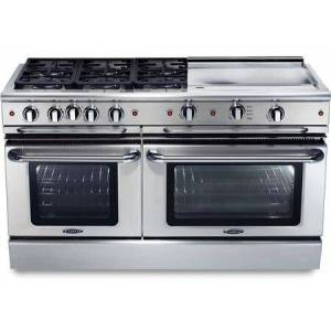 """Capital GSCR606G-N 60"""" Precision Series Freestanding Natural Gas Range with Self Clean  7.7 cu. ft. Total Capacity  24"""" Griddle  and 6 Sealed Burners  in"""