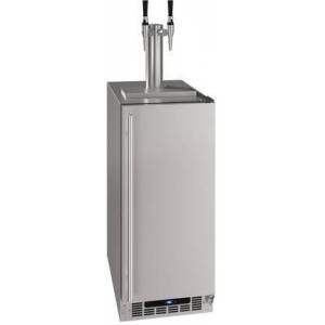 """U-Line UHDE215SS03A 15"""" Nitro Infused Cold Coffee Dispenser with 3.6 cu. ft. Capacity  Convection Cooling System and Digital Touch Pad Control in Stainless"""