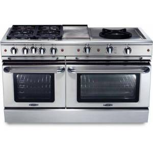 """Capital GSCR604GW-N 60"""" Precision Series Freestanding Natural Gas Range with Self Clean  12"""" Griddle  24"""" Wok Burner  and 4 Sealed Burners  in Stainless"""