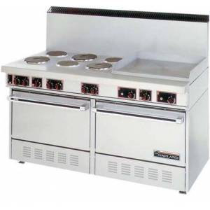 """Garland SS-684-24G 60"""" Electric Range with 6 Elements  2 Ovens  24"""" Griddle in Stainless"""