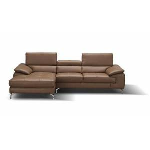 J and M Furniture 17906122-LHFC A973B Italian Leather Mini Sectional Left Facing Chaise in