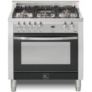 """Lofra CKSS36M0-G500 Curva 36"""" Dual Fuel Freestanding Range with Traditional Baking  Dehydration  Defrosting  True European Convection  Rapid Cooking"""