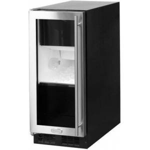 """Marvel ML15CPG1LS 15"""" Clear Ice Maker with 39 lbs Daily Production  35 lbs Storage Capacity  Close Door Assist  LED Lighting and Intuit Integrated Controls"""