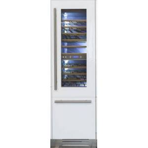 """Fhiaba FI24BWR-RGO 24"""" Integrated Series Built-in Wine Cellar with 54 Bottle Capacity  3 cu. ft. Freezer Capacity  Riserva  TriMode  9 Wooden Shelves and"""