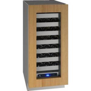 """U-Line UHWC515-IG01A 5 Class 15"""" Wine Captain with 2.9 cu. ft. Capacity  Seven Full-Extension Wine Racks   LED Lighting and Soft Close Door in Panel Ready"""