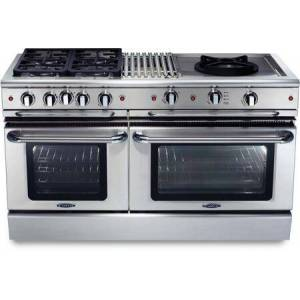 """Capital GSCR604BW-N 60"""" Precision Series Freestanding Natural Gas Range with Self Clean  12"""" Grill  24"""" Wok Burner  and 4 Sealed Burners  in Stainless"""