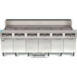 """Frymaster SCFHD650G 93"""" HD50G Series Energy Star Commercial Gas Fryer with 600000 BTU  300 lbs Oil Capacity  Thermo Tube Design  Built In Filtration and Wide"""