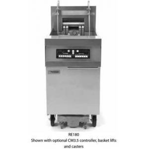 """Frymaster FPRE480F480 80"""" RE80 Series Commercial Electric Fryer with 21KW Input  Digital Controller  Deep Cold Zone  Open Frypot Design and Built In Filtration"""