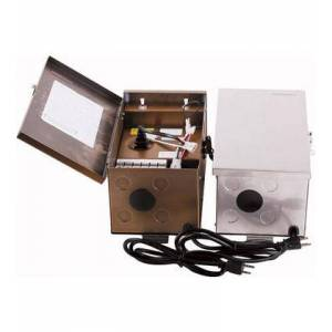 Elitco Lighting TF600WST Low Voltage Landscape Transformer 600 Watts  120 Volts  Timer/Photocell Adaptable  in Stainless