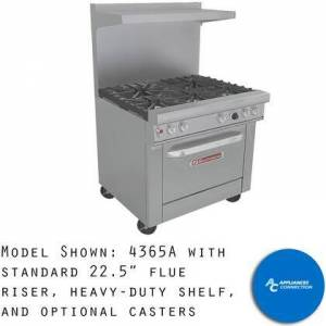 """Southbend 4366A Utimate Range Series 36"""" Gas Range with Three Star/Saute Burners in Front  Two Pyromax Burners in Back  and Standard Cast Iron Grates  Up to"""
