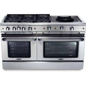 """Capital GSCR606W-N 60"""" Precision Series Freestanding Natural Gas Range with Self Clean  7.7 cu. ft. Total Capacity  24"""" Wok Burner  and 6 Sealed Burners  in"""