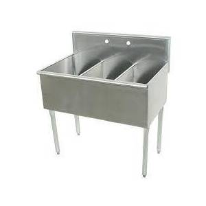 """Advance Tabco 6-3-48-2X Budget Line 600 Series Three-Compartment 48"""" Scullery Sink (Minimum Order of 7"""