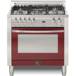 """Lofra CBSS36M0-G500 Curva 36"""" Dual Fuel Freestanding Range with Traditional Baking  Dehydration  Defrosting  True European Convection  Rapid Cooking"""