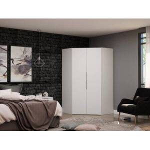 Manhattan Comfort Mulberry Collection 115GMC1 Wardrobe/ Armoire/ Closet with 2 Doors  Contemporary Modern Style  Medium-Density Fiberboard (MDF) Frame and