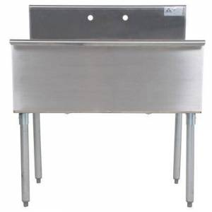 """Advance Tabco 6-2-36-2X Budget Line 600 Series Two-Compartment 36"""" Scullery Sink (Minimum Order of 7"""