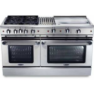 """Capital GSCR604BG-N 60"""" Precision Series Freestanding Natural Gas Range with Self Clean  12"""" Grill  24"""" Griddle  and 4 Sealed Burners  in Stainless"""