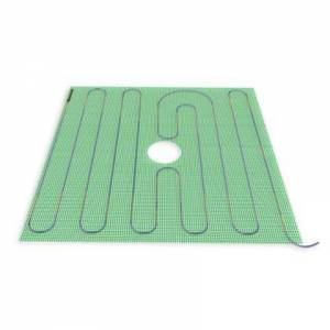 """WarmlyYours TRT120-2.7x2.7 32"""" x 32"""" Tempzone Shower Mat with 120V  7.1 Sq. Ft. Coverage  0.89 Amps and 365 BTU Per"""