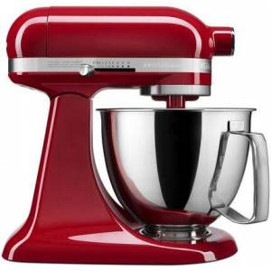 KitchenAid KSM3316XER Artisan Mini Tilt Head Stand Mixer with 10 Optimized Speeds  Soft Start  Stainless Steel Bowl Finish  and 10 Different Attachements  in