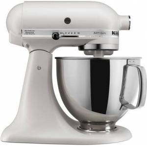 KSM150PSMH Artisan Tilt-Head Stand Mixer 5 Quarts Stainless Steel  Bowl  10 Speeds  Pouring Shield  Coated Cough Hook  Flat Beater  in