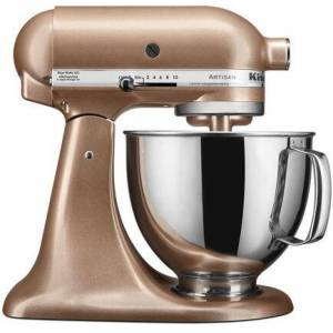 KitchenAid KSM150PSTZ Artisan Tilt-Head Stand Mixer 5 Quarts Stainless Steel  Bowl  10 Speeds  Pouring Shield  Coated Cough Hook  Flat Beater  in Toffee