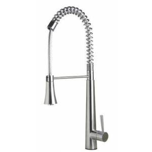Alfi AB2039S Solid Stainless Steel Commercial Spring Kitchen Faucet with Pull Down Shower