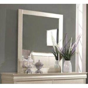 Myco Furniture Louis Philippe Collection LP800-M Mirror with Wood Trim Champagne